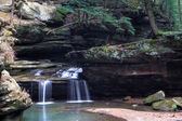 Old Man's Cave Waterfall — Stock Photo