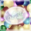Christmas greeting card with christmas balls and place for your text. Vector eps 10. — Stock Vector #58267863