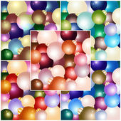 Set of Christmas backgrounds with Christmas balls of various colors.Vector eps 10. — Stock Vector