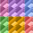 Set of colorful seamless textures of different colors. Vector eps 10. — Stock Vector #59271995