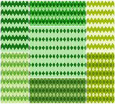 Set of bright seamless textures in shades of green. Vector eps 10. — Stock Vector
