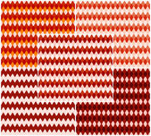Set of bright seamless textures in shades of red. Vector eps 10. — Stock Vector