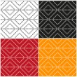 Set of abstract patterns of the rings on a white, black, red and orange backgrounds. Vector eps 10 — Stock Vector #61133493