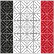 Set of abstract patterns of the rings on a white, black and red  backgrounds. Vector eps 10. — Stock Vector #61133497