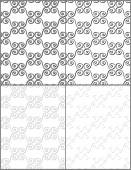 Set of light vintage seamless patterns in black and white and grayscale. Vector eps 10. — Stock Vector