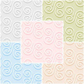 Set of abstract vintage seamless patterns in pastel colors. Vector eps 10. — Stock Vector