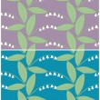 Set of colored seamless patterns with lilies of the valley. Vector eps 10. — Stock Vector #64139315