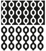 Vector set of abstract seamless black and white patterns with chains. Eps 10. — Stock Vector