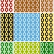 Vector set of of bright abstract seamless patterns with chains in different colors. Eps 10. — Cтоковый вектор #69454825