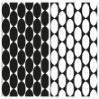 Set of abstract black and white seamless patterns of links of chain. Vector eps 10. — Stock Vector #69609203