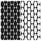 Set of abstract black and white seamless patterns of links of chain. Vector eps 10. — Stock Vector