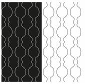 Set of abstract black and white seamless patterns of contours lines. Vector eps 10. — Stock Vector
