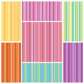 Set of colorful seamless textures from vertical strips of different widths. Vector eps 10. — Stock Vector