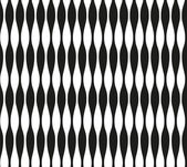 Abstract seamless black and white pattern of narrow wavy stripes. Vector eps 10.Illusion illustration. Zebra. — Stock Vector