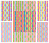 Set of abstract colorful motley seamless textures of smooth wavy stripes in different colors. Vector eps 10. — Stock Vector