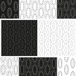 Set of abstract dotty seamless patterns in black and white. Vector eps10. — Stock Vector #71396603