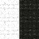 Set of abstract seamless patterns with dotted rectangles in grayscale. Vector eps 10. — Stock Vector
