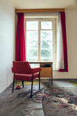 Desk by the window — Stock Photo