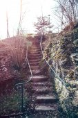 Stone stairs in nature — Stock Photo