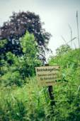 Prohibition sign in the grass — Stock Photo
