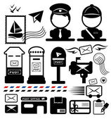Postman icon vector — Stockvektor