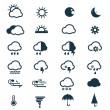 Vector of Weather icons set — Vecteur #55491747