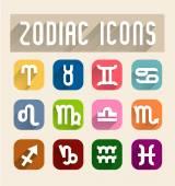 Zodiac icons vector — Stock Vector