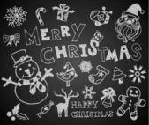 Christmas on the chalkboard — Stock Vector