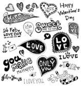 Love doodle vector, valentine vector — Stock Vector