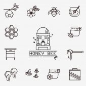 Honey vector icons — Vetor de Stock