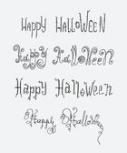 Halloween text greetings hand-drawn — Stock Vector