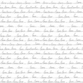 Hand drawn seamless pattern of the words love. Lines handwritten — Stock Vector