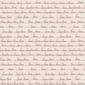 Hand drawn seamless pattern of the words love. Lines handwritten — Stock vektor