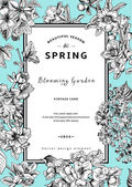 Vintage vector vertical card spring. — Stock Vector