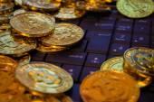 Bitcoin virtual currency — Stock Photo