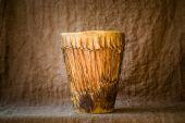 El yapımı djembe davul — Stok fotoğraf
