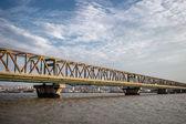 Pancevo bridge in Belgrade, Serbia — Stockfoto