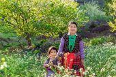 Ethnic mom and her child — Stock Photo