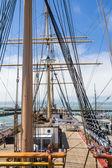 Masts os a sailingboat — Stock Photo