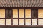 Medieval timbered yellow  brown house  in Aarhus, Denmark — Zdjęcie stockowe