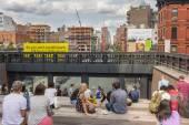 NEW YORK CITY - JULY 29,2014: High Line Park New York — Stock Photo
