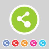 分享平面图标徽章 — 图库矢量图片