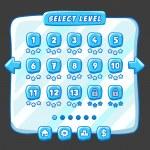 Постер, плакат: Level selection game menu ice style