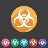 Biohazard flat icon badge — Stock Vector