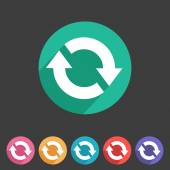 Refresh reload flat icon badge — Stock Vector