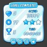 Постер, плакат: Game ice level selection icons