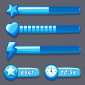 Game ice energy time progress bar — Stockvector