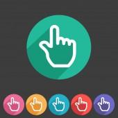 Drag hand flat icon — Stock Vector