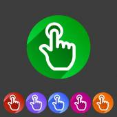 Drag hand flat icon — Vector de stock