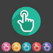 Drag hand flat icon — Stockvektor